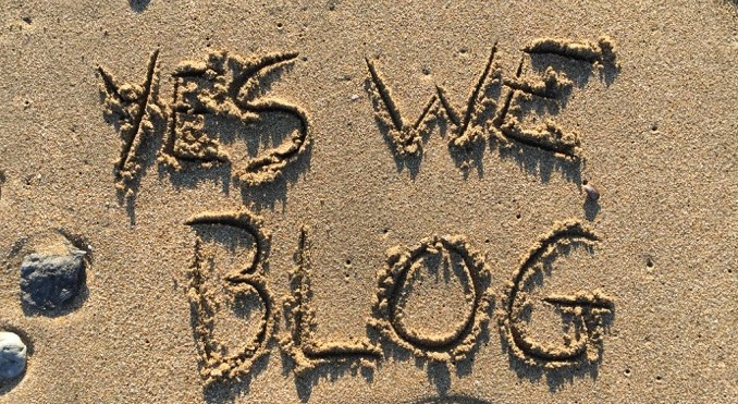yes we blog on the beach