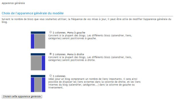 apparence canalblog