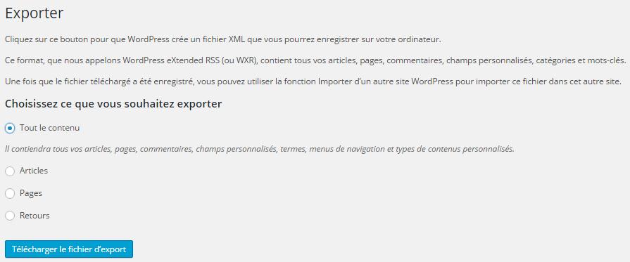 exporter-wp-contenu