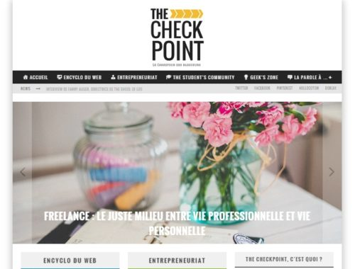 the checkpoint.fr home page image