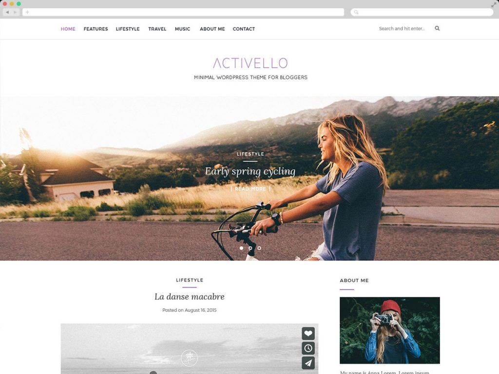 Activello – Simple Multipurpose Blog Theme