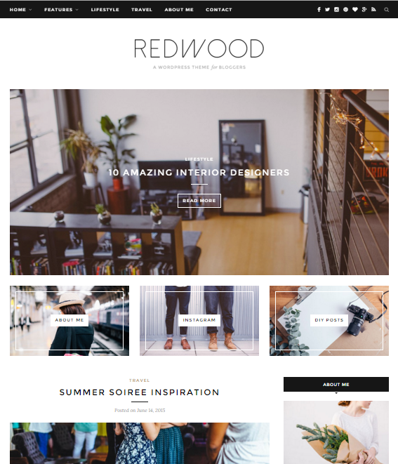 demo redwood by solo pine on themeforest