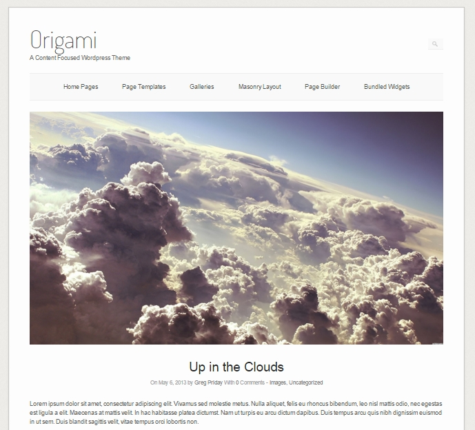 origami free wordpress photo theme