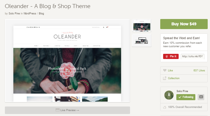 oleander-wp-theme-by-solopine