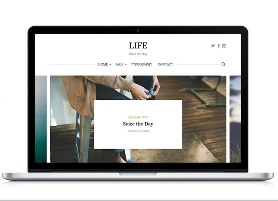 life wordpress simple premium lifestyle