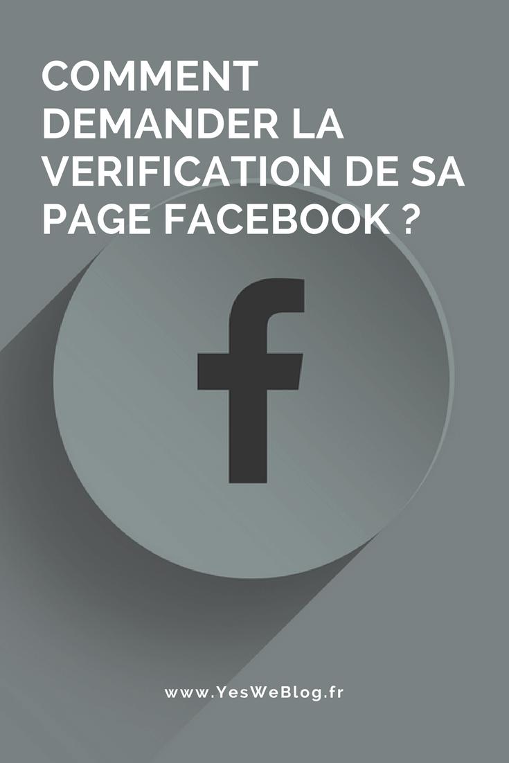 COMMENT DEMANDER LA VERIFICATION DE SA PAGE FACEBOOK