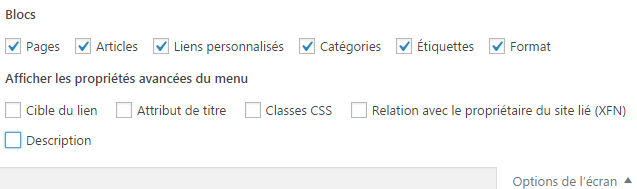 options-ecran-wp-menus
