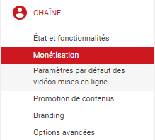 monetisation youtube