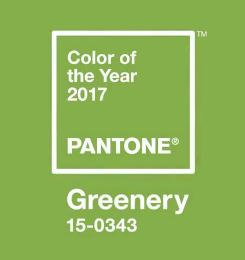 pantone greenery color of 2017 year