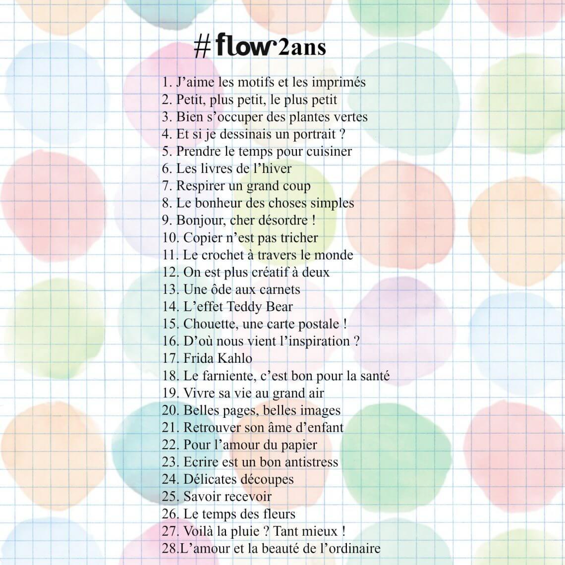 challenge 2 ans flow 2017 fevrier
