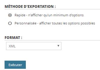 export-rapide-bdd