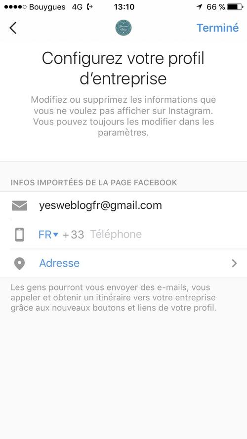 instagram   ajouter les liens appeler email et itin u00e9raire sur son compte