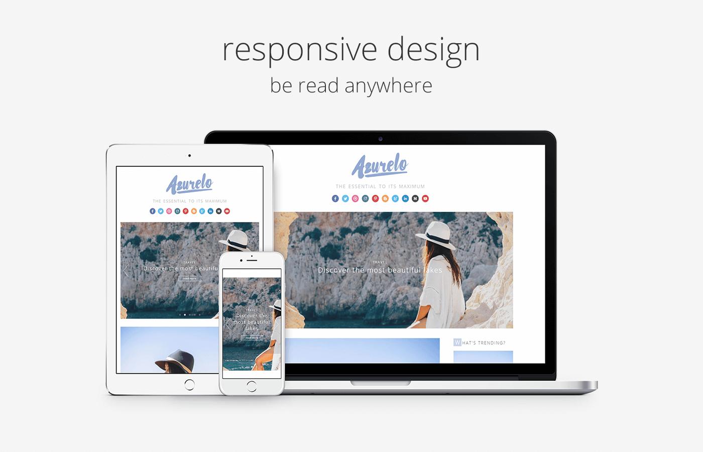 Design WP responsive Azurelo