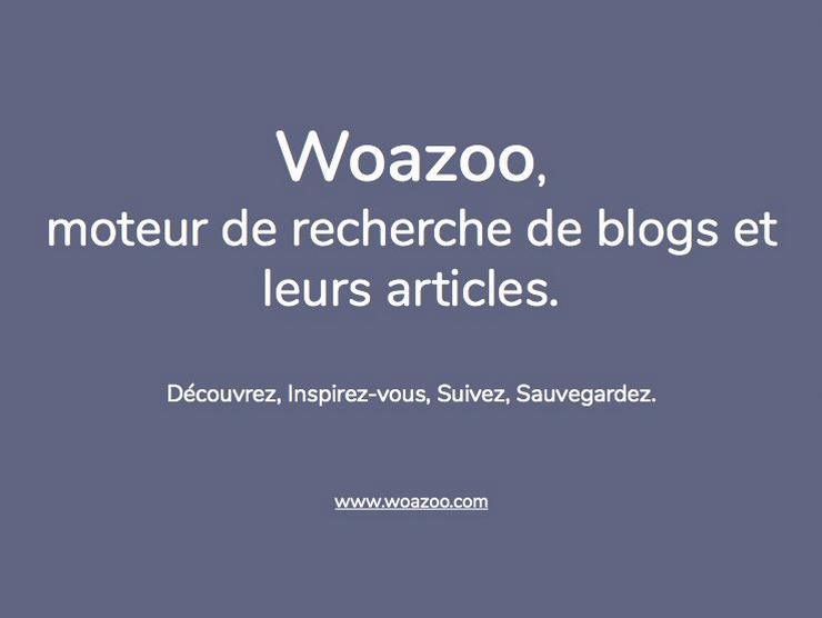 Woazoo.com Le moteur de recherche de Blog et articles de Blog