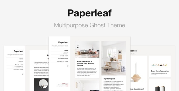 Paperleaf Ghost Theme