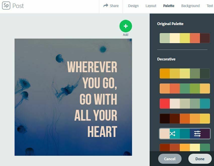 Exemple de visuel Spark Adobe