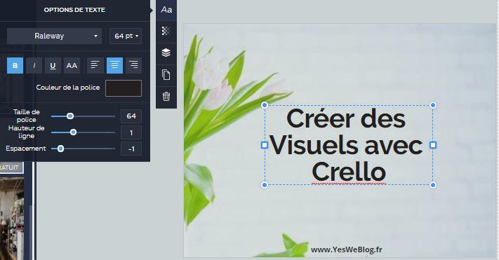 Mise en forme d un visuel avec Crello