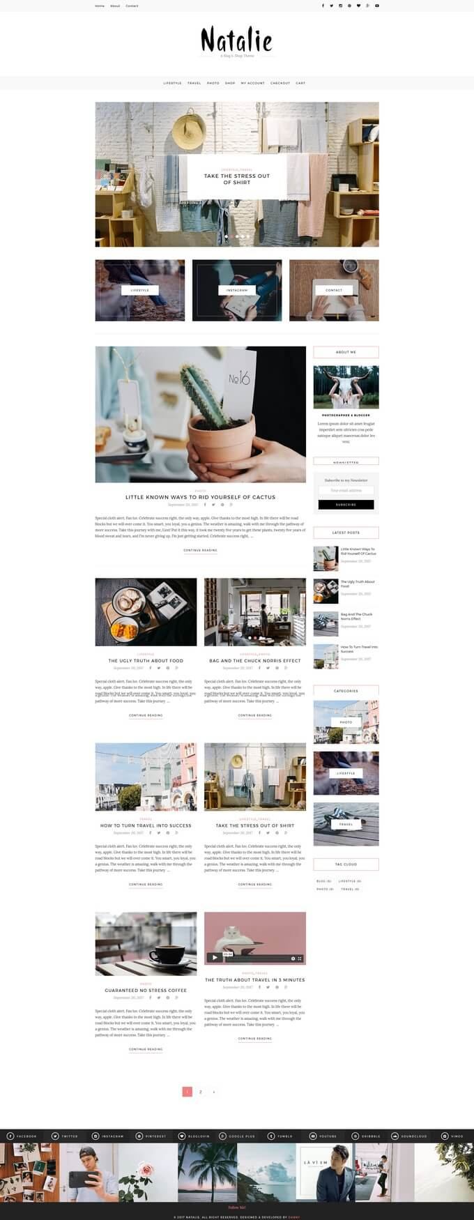 Natalie Theme WP Design