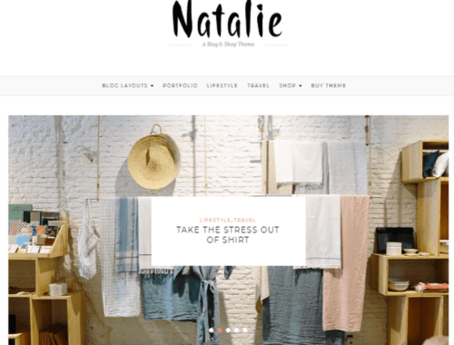 Natalie WP Theme compatible WooCommerce