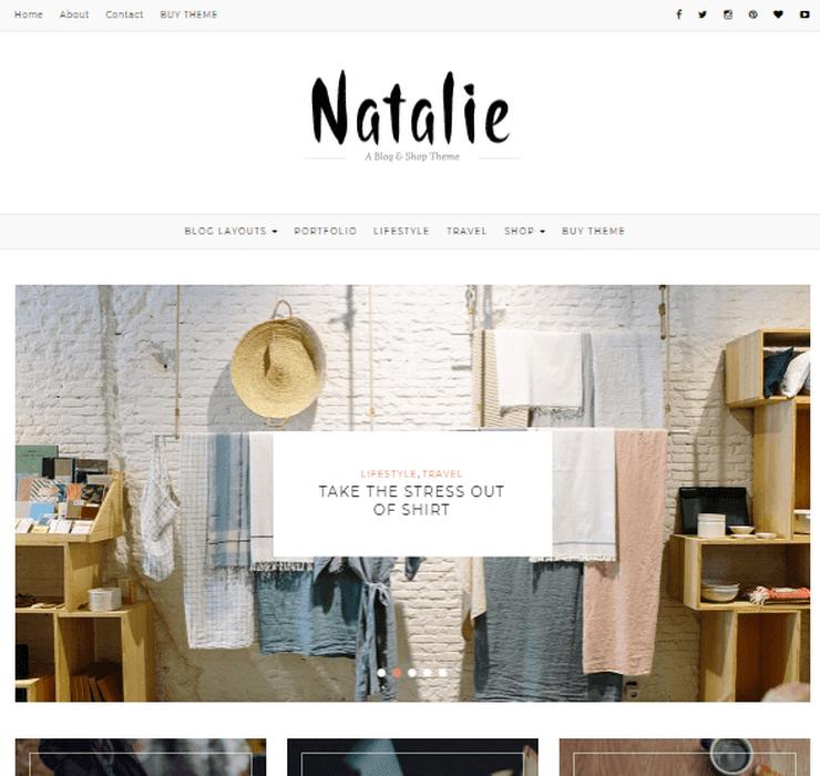 Natalie WP Theme compatible WooCommerce