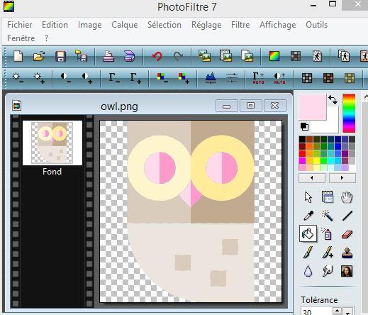 Modifier icone freepik avec photofiltre