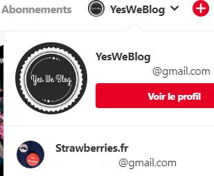 Liste de comptes Pinterest