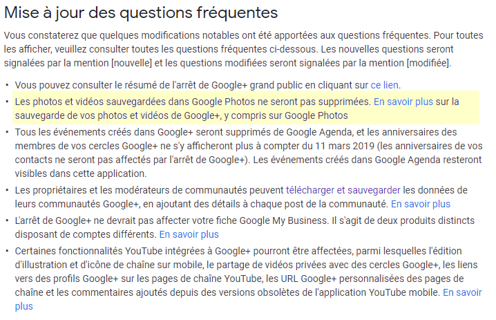 Photos dans Google Plus