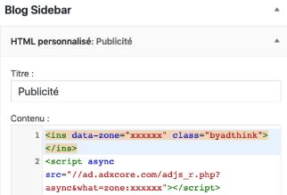 Code format Hello sidebar blog