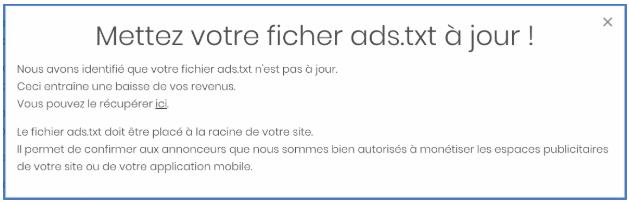Fichier ads txt