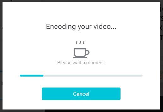 Encoding your video sur flexclip message avant export