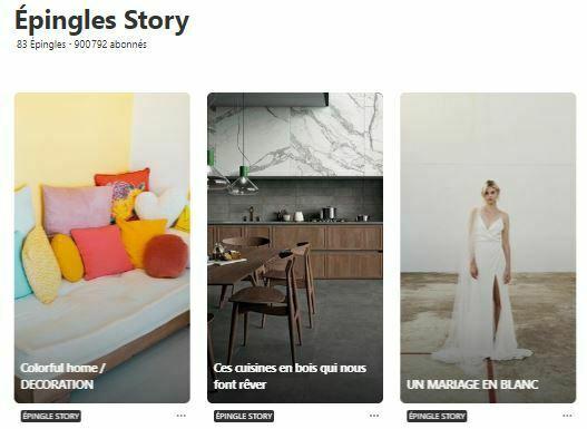 épingles story Pinterest