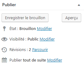 Nombres de révisions d'articles WordPress