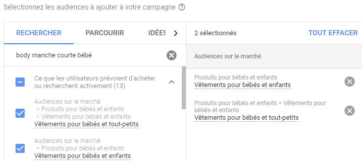 ciblage audience google ads