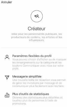 vue profil createur instagram