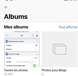 ALBUM pour blogs sur iphone