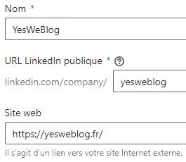 identité de la page entreprise linkedin