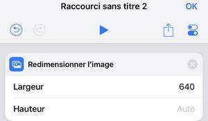 largeur dimension photo iphone raccourci