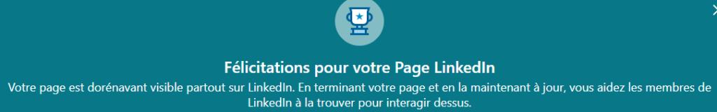 publication page entreprise sur linkedIn