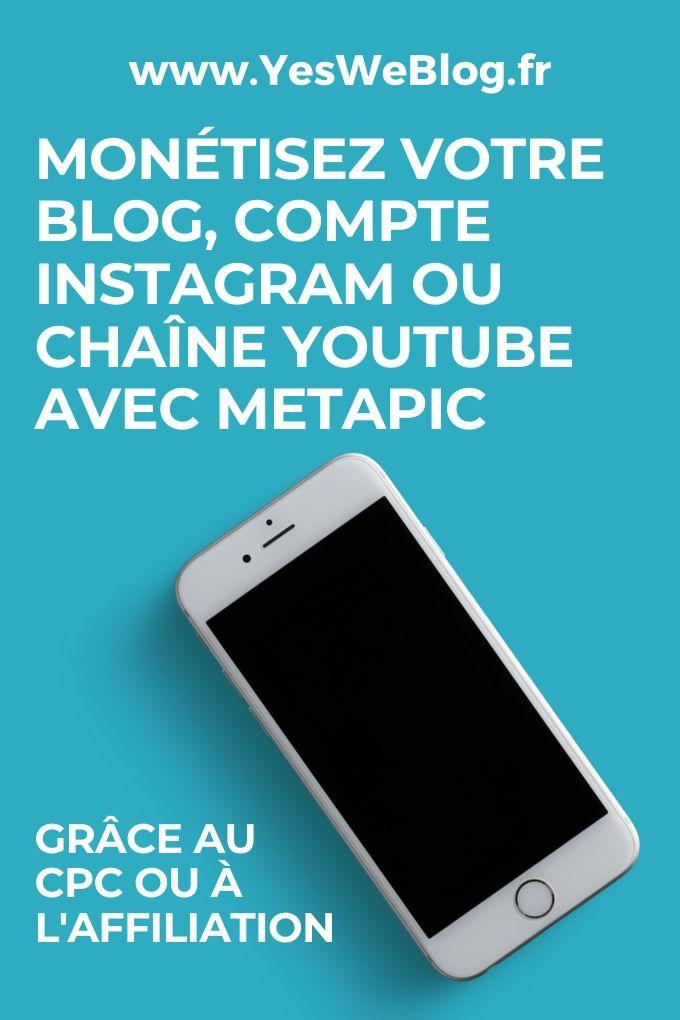 Metapic la plateforme de campagnes influenceurs