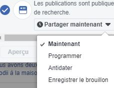 programmer post page facebook outils publication