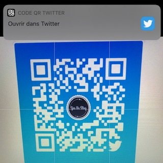 notification ouverture compte twitter via qr code