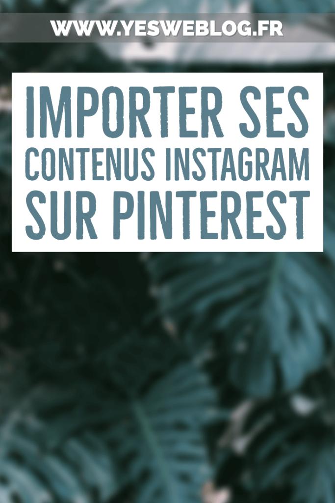 importer ses anciennes photos instagram sur pinterest
