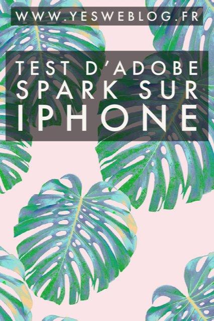 test d adobe spark post sur iphone application creation visuelle