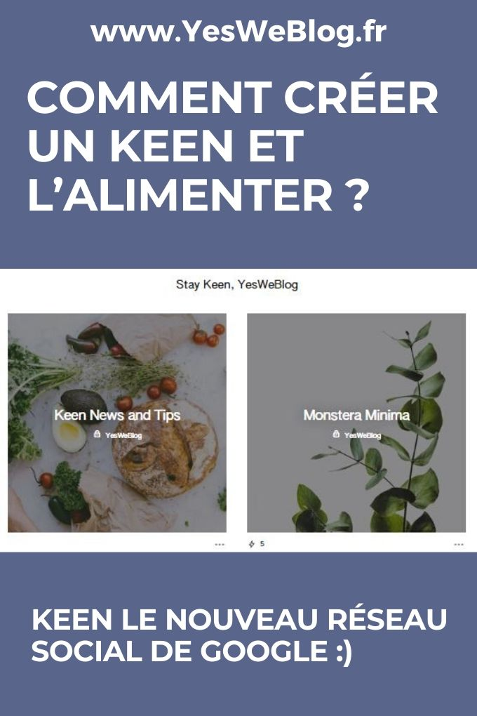 COMMENT CREER UN KEEN ET L ALIMENTER