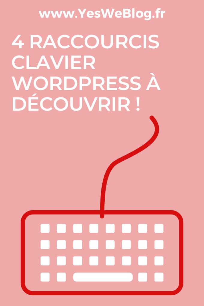 Quatre Raccourcis clavier WordPress