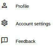 account settings keen