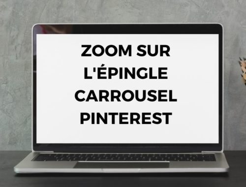 Creer une épingle carrousel sur Pinterest