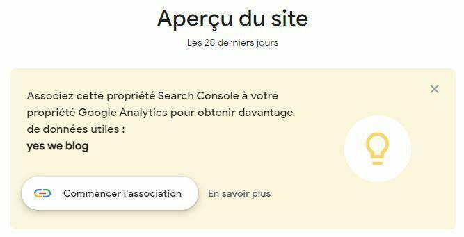 association google search insights avec google analytics